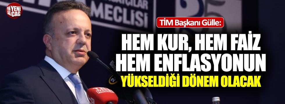 """TİM Başkanı: """"Zor bir dönemden geçiyoruz"""""""