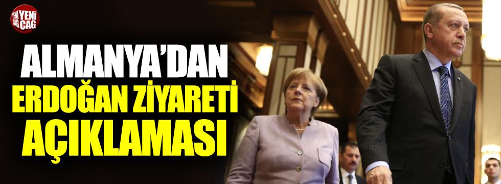 Almanya'dan Erdoğan ziyareti açıklaması