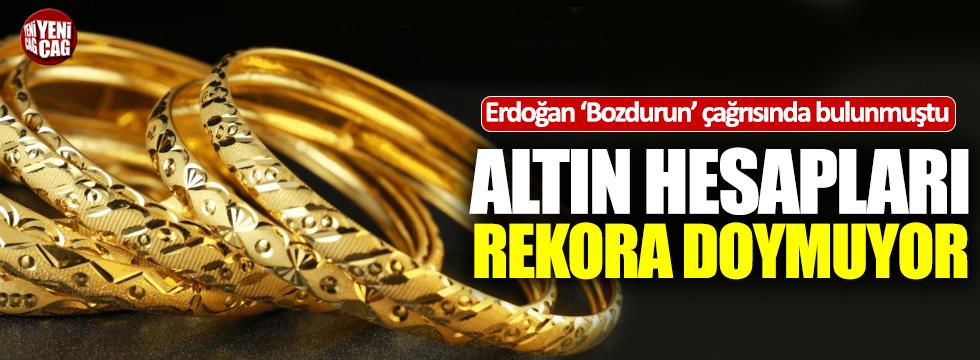 Erdoğan çağrı yapmıştı: Yastık altındaki altın rekor seviyede