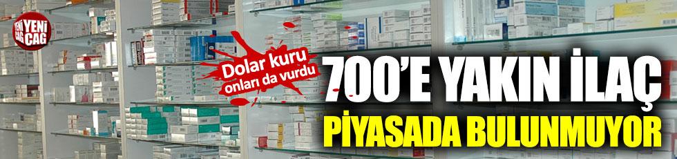 700'e yakın ilaç piyasada bulunmuyor