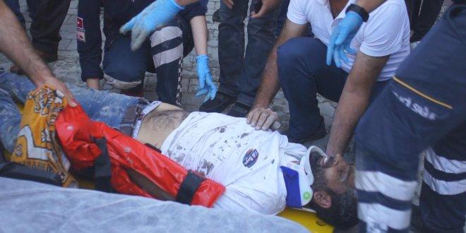 Binanın ikinci katından düşen işçi ağır yaralandı