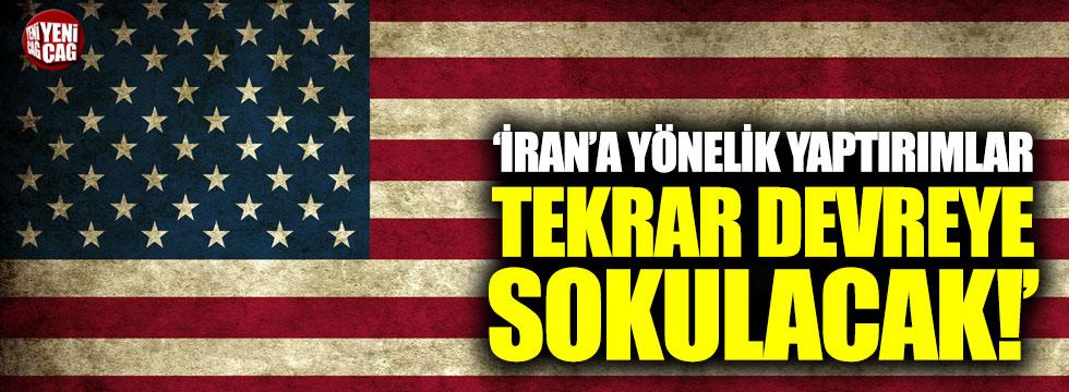 ABD Dışişleri Bakanı Pompeo'dan İran'a yaptırım açıklaması