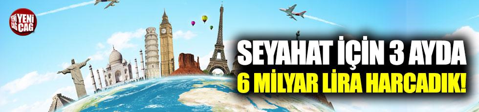 Seyahat için 3 ayda 6,3 milyar lira harcadık!