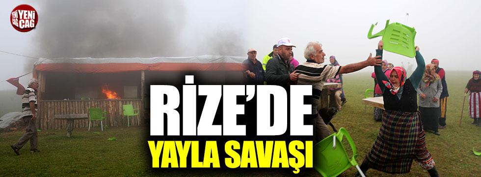Rize'de yayla savaşı