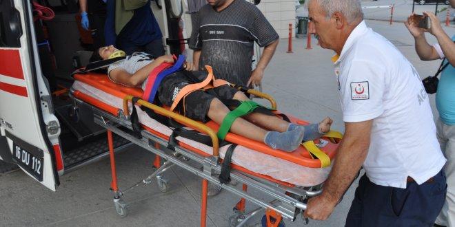 İnşaatın asansör boşluğuna düşen çocuk yaralandı