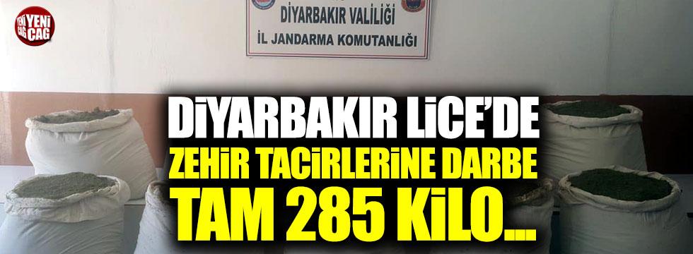 Diyarbakır Lice'de zehir tacirlerine ağır darbe