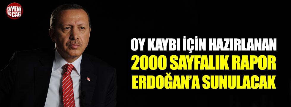 Oy kaybı için hazırlanan 2000 sayfalık rapor Erdoğan'a sunulacak