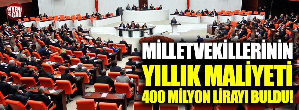 Vekillerin yıllık maliyeti 400 milyon lirayı buldu
