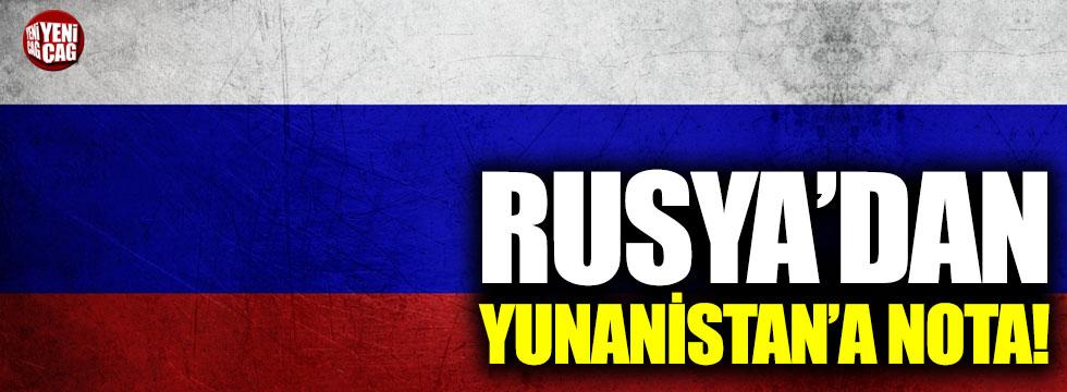Rusya'dan Yunanistan'a nota!