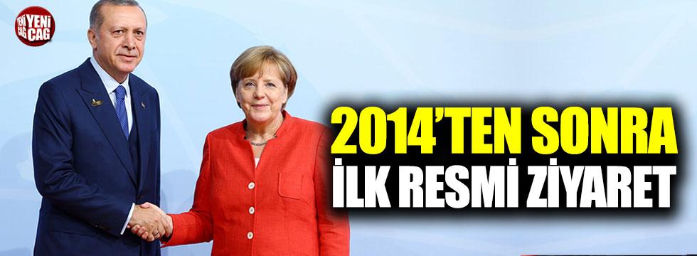 Erdoğan'ın 2014'ten sonra ilk resmi Almanya ziyareti