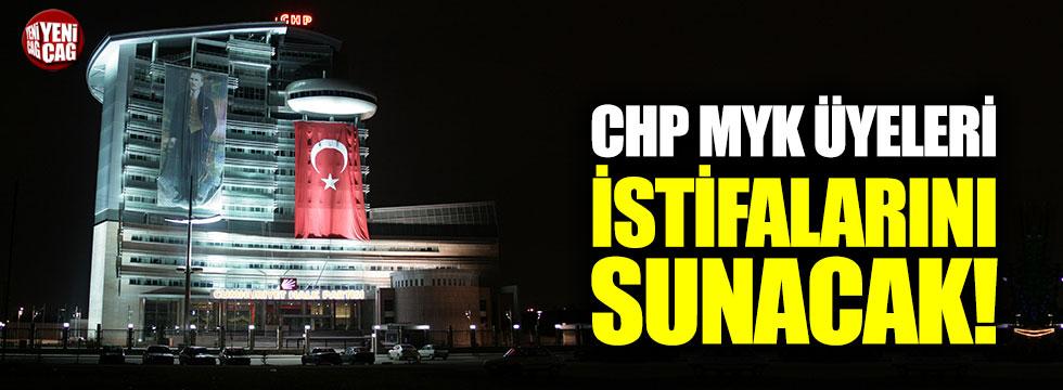 CHP MYK üyeleri istifalarını sunacak