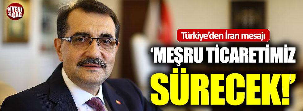Türkiye'den İran mesajı