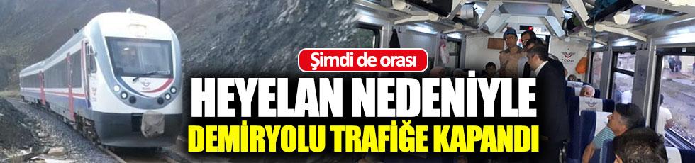 Erzincan-Sivas Demiryolu ulaşıma kapandı