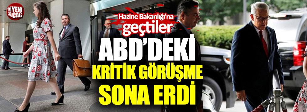 Türkiye ABD görüşmesi sona erdi