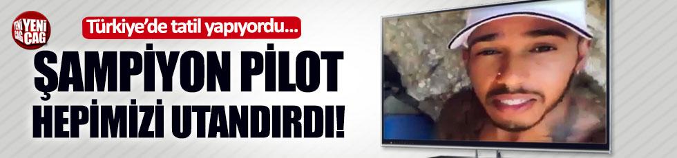 Şampiyon F1 pilotu Türkiye'de çöp topladı