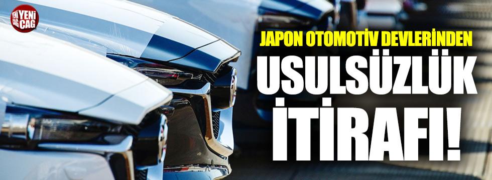 Japon devlerinden usulsüzlük itirafı