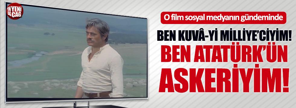 Arkın'ın o filmi sosyal medyanın gündeminde: Ben Atatürk'ün askeriyim!