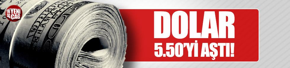 Dolar 5.50 sınırını geçti!