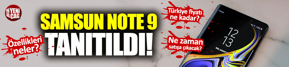 Samsung Galaxy Note 9 Türkiye fiyatı ne kadar?