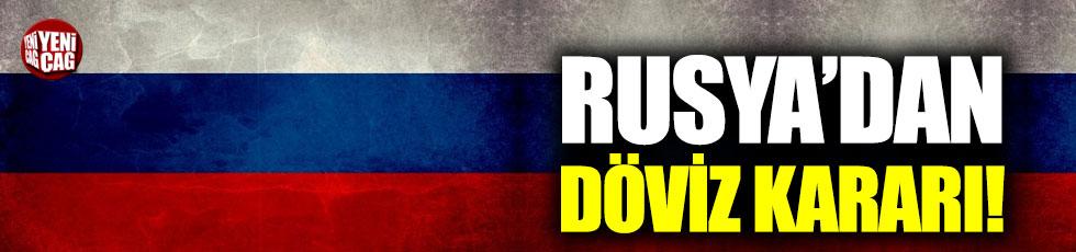 Rusya'dan döviz alımına kısıtlama
