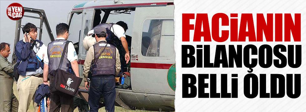 Japonya'da düşen helikopterde 9 kişi öldü