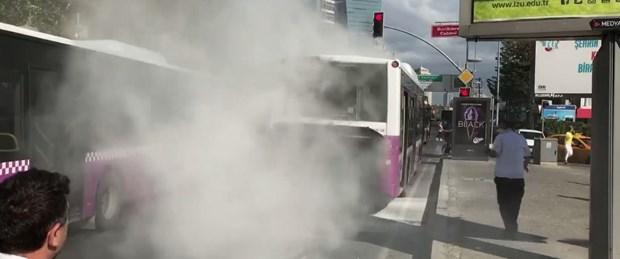 Levent'te yangın paniği