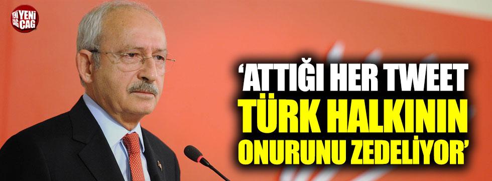 """""""Attığı her tweet Türk halkının onurunu zedeliyor"""""""