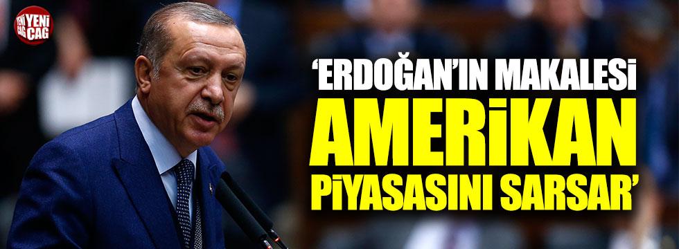 """Sement: """"Erdoğan'ın makalesi Amerikan piyasasını sarsar"""""""