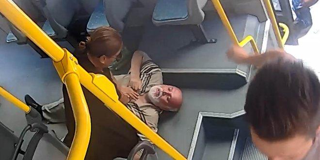 Otobüste kalp krizi geçirdi