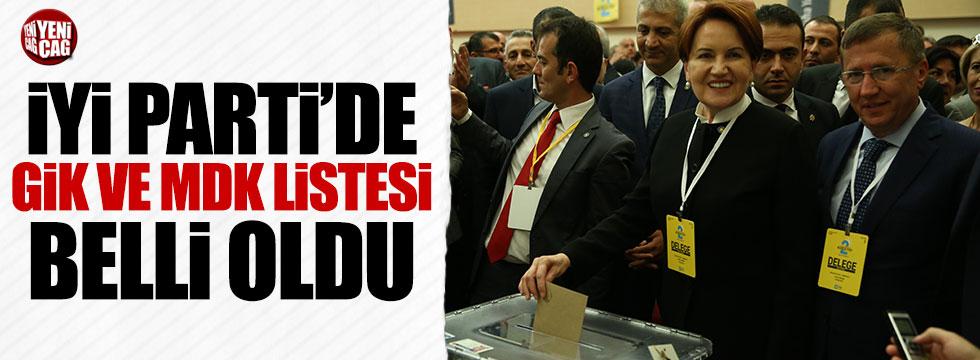 İYİ Parti'de GİK ve MDK listeleri belli oldu