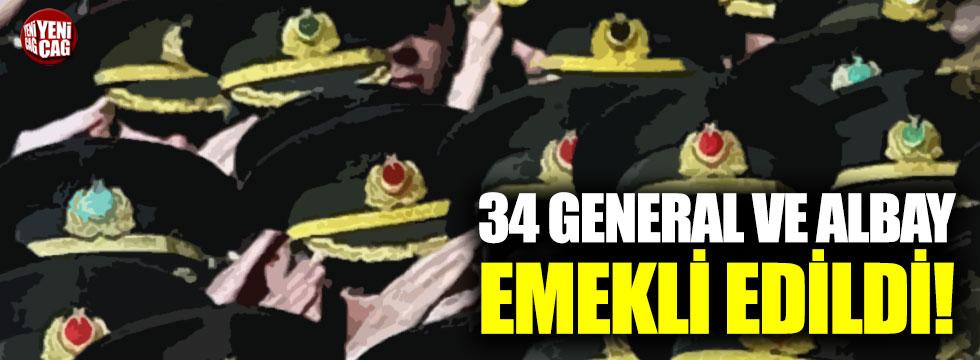 Jandarmada 34 general ve albay emekli edildi