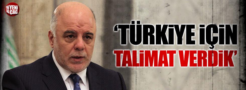 İbadi: Türkiye için talimat verdik