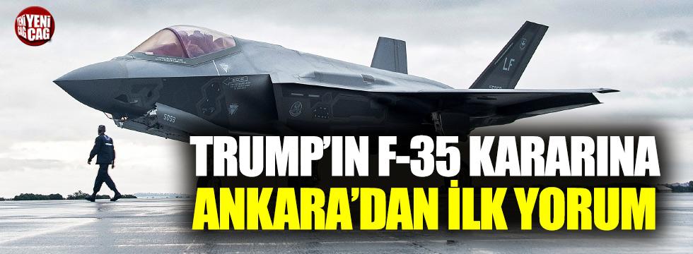 Ankara'dan F-35 açıklaması