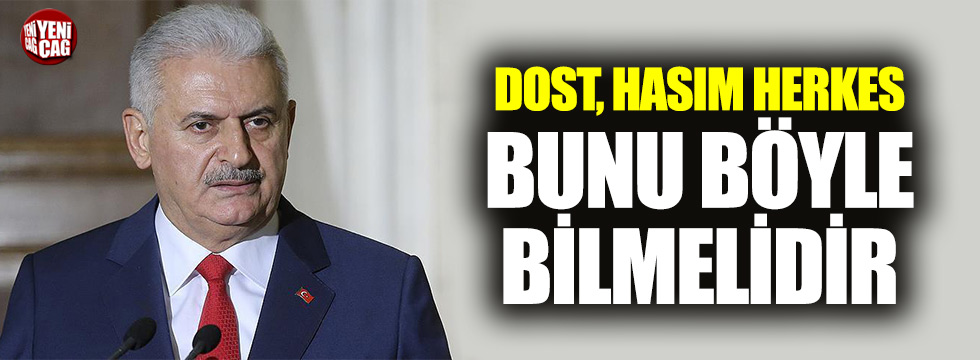 """Yıldırım: """"Türkiye ekonomik dayatmalara kapalıdır"""""""
