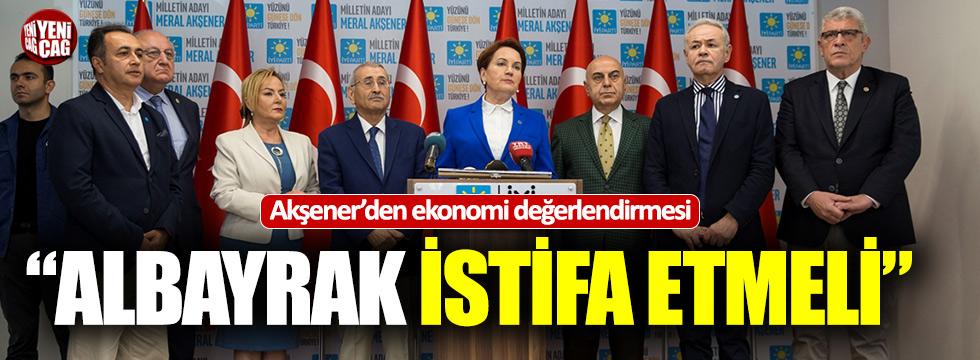"""Akşener'den ekonomi çağrısı: """"Albayrak istifa etmeli"""""""