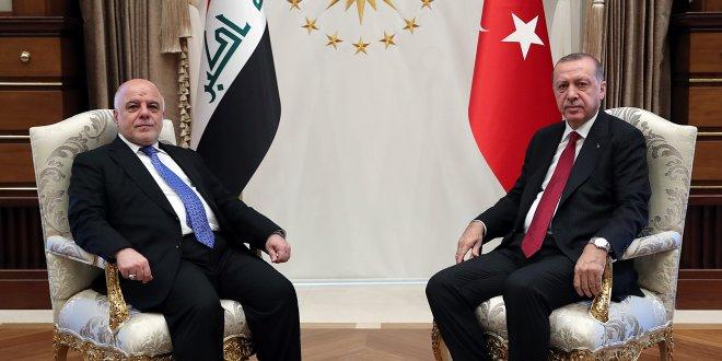 Erdoğan, İbadi'yi kabul etti