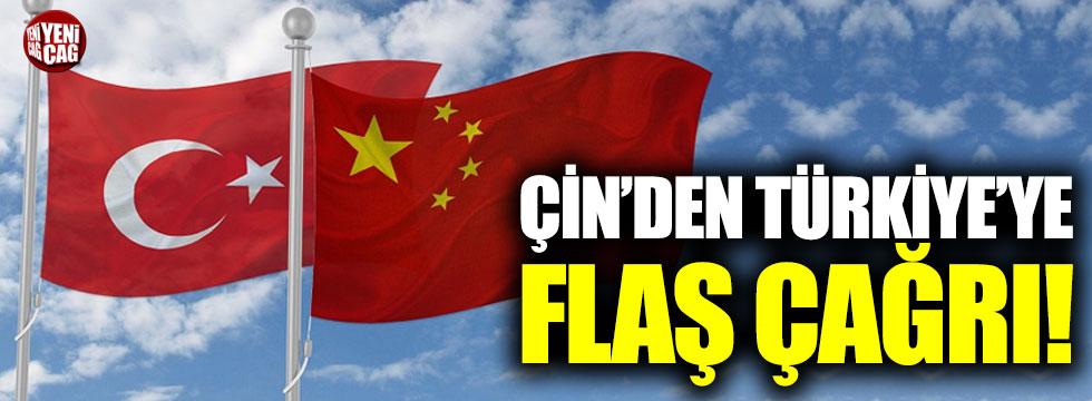 Çin'den Türkiye'ye flaş çağrı!