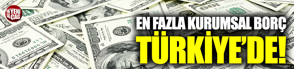 En fazla kurumsal borç Türkiye'de