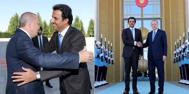 Erdoğan, Katar Emiri'ni kabul etti