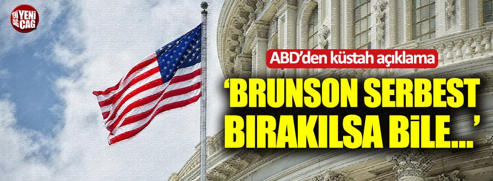 Beyaz Saray: Brunson serbest bırakılsa bile...