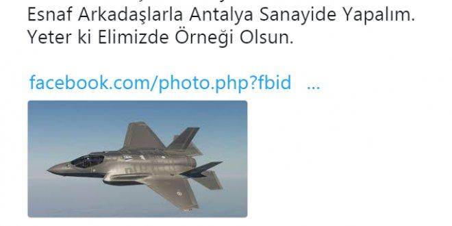 Oto tamircisinden 'F-35' önerisi