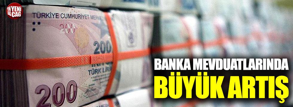 Bankalarda mevduat arttı