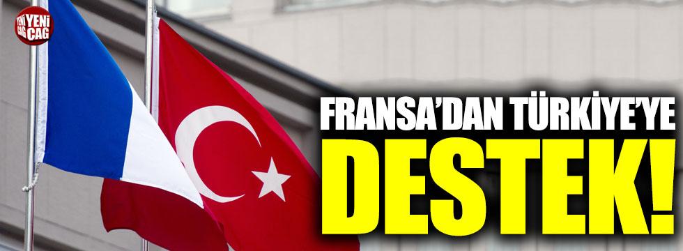 Fransa'dan Türkiye'ye destek!