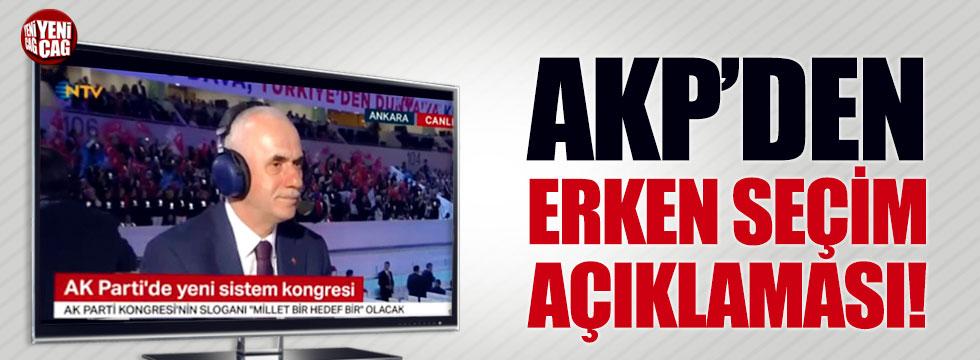 AKP'den erken yerel seçim açıklaması!