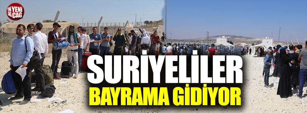 Suriyeliler bayram için memleketine dönüyor