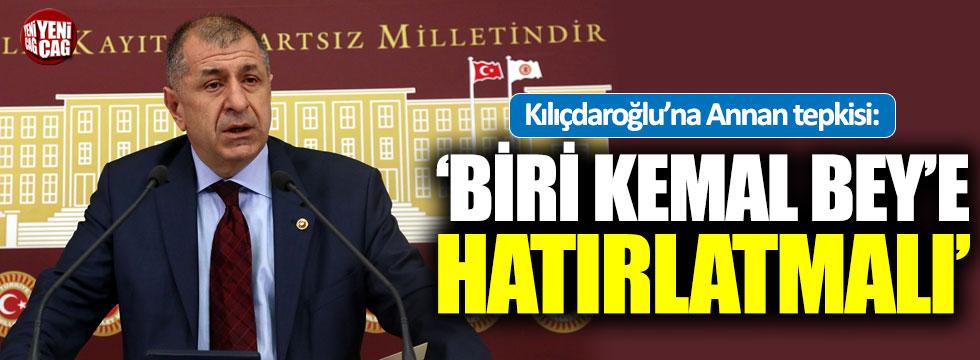 Ümit Özdağ'dan Kılıçdaroğlu'na Kofi Annan tepkisi