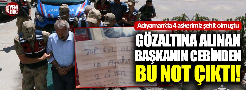 HDP'li başkanın cebinden bu not çıktı!