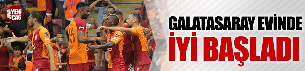 Galatasaray evinde iyi başladı