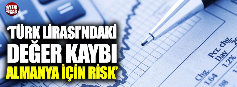 """""""Türk Lirası'ndaki değer kaybı Almanya için risk"""""""