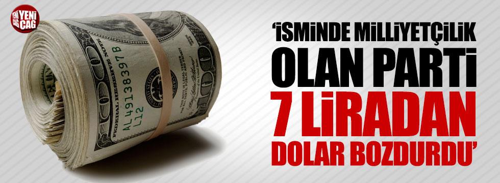 "Özgür Özel: ""İsminde milliyetçilik olan parti 7 TL'den dolar bozdurdu"""